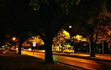 Streetcar next to Vibe Hotel