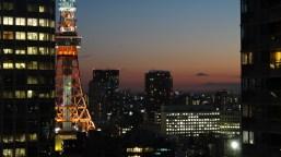 32. Tokyo Tower dusk close-up