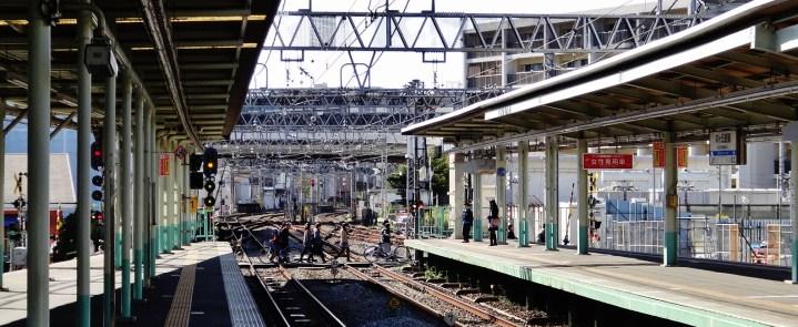 3. Train tracks crossing Tokyo