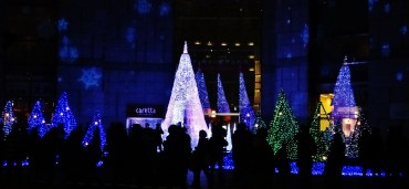 Caretta Shiodome christmas display 1