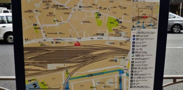 Shinagawa tunnel rail map