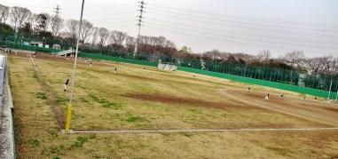 Baseball field flood pool Zenpukujigawa wide