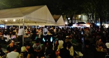 Keyaki Hiroba Spring Beer Festival night tents