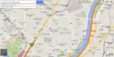 Tokyo Yoshiwara Senzoku Sanya 2013 map