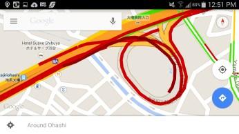 Heavy traffic inside the O-Path