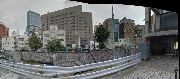 Panorama Shibuya from hill south of station 2014