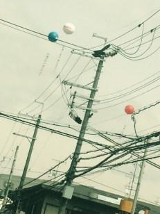 modern advertising balloons Japan