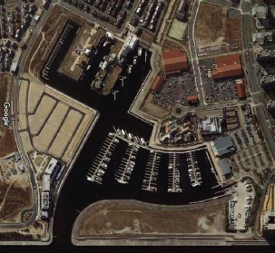 ashiya marina japan residential cove aerial photo