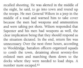 "Excerpt from the book ""Black Soldier, White Army"" related to the Kokura Incident."