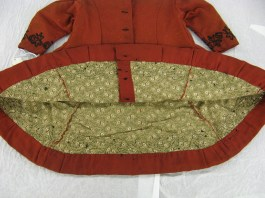 Calico lining of the wool coat