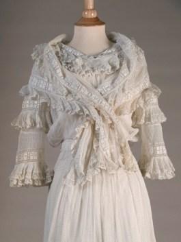 Detail of dress in earlier photo