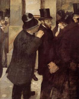 "Edgar Degas, ""At the Stock Exchange"" 1878-79 (Musée D'Orsay)"