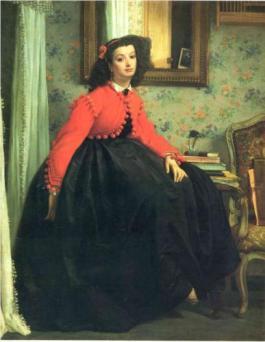 """James Tissot, """"Portrait de Mademoiselle L. L."""" 1864 (Musée D'Orsay)"""
