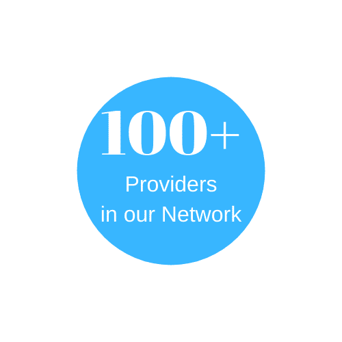 more than 100 mental health care providers in the network