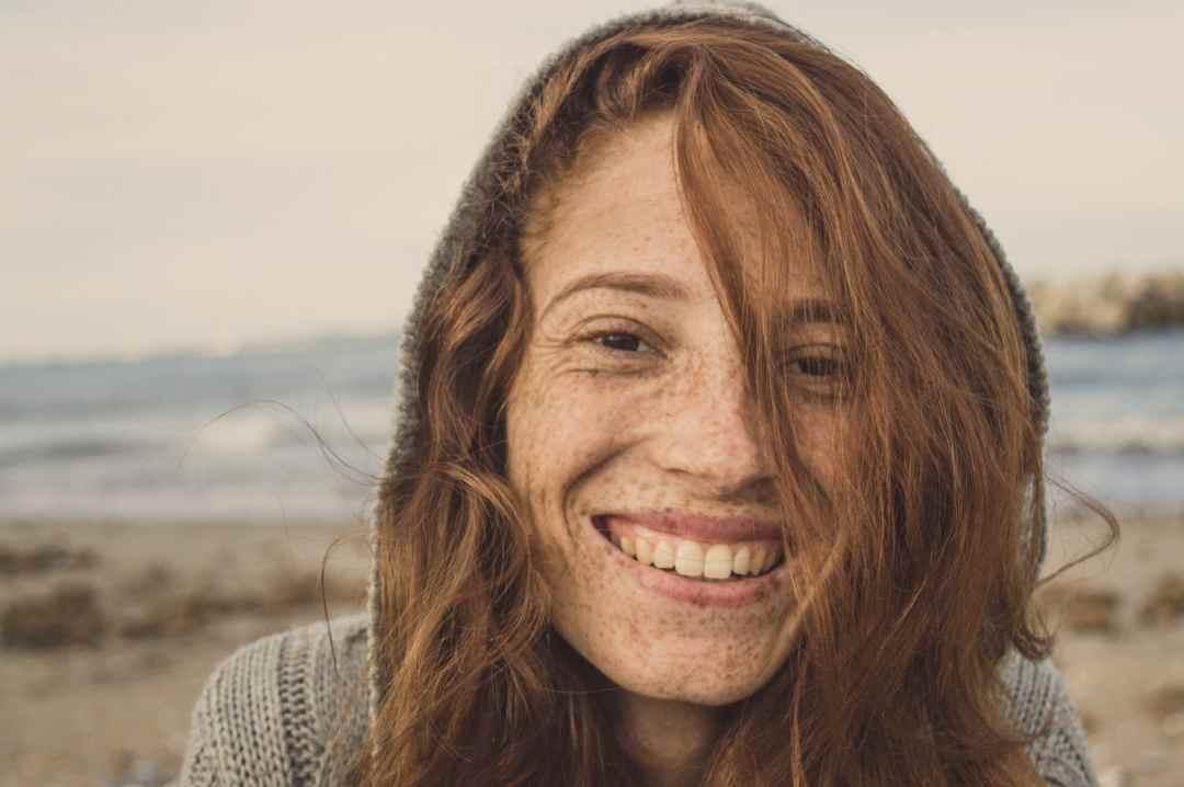 happy girl with a high self esteem