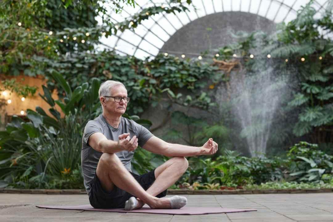 man finding inner peace