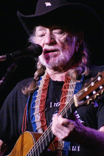Willie Nelson performing at Country Throwdown in Knoxville, TN. Photo by Jessica Blankenship
