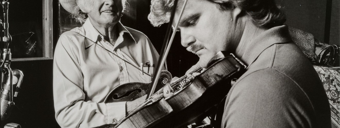 Bill Monroe and Ricky Skaggs, 1984. Photograph by Larry Dixon