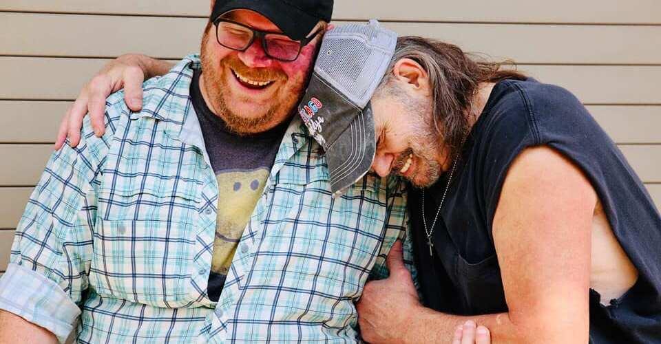 Garrick 'Puddin' Howell with Greg Austin. Photo by Warren Cobb.