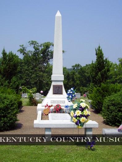 Bill Monroe Gravesite in Rosine, Kentucky. Photo by Jessica Blankenship.