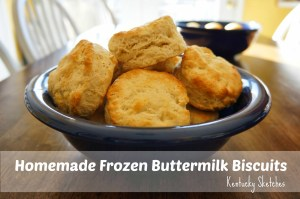 Homemade Frozen Buttermilk Biscuits