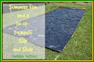 Summer Fun: A Do-It-Yourself Slip and Slide