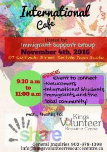 International Cafe ~ November 4th