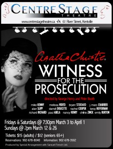 """Witness for the Prosecution"" ~ at CentreStage Theatre"