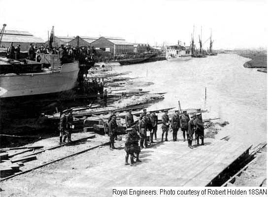 18SAN - Richborough Port - barge construction dock area