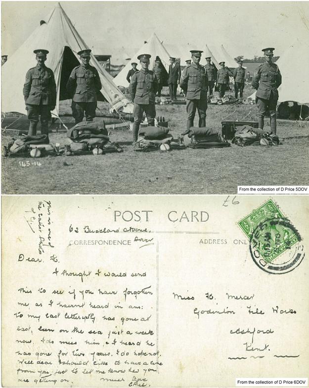 5DOV – G Postcard Front and Back