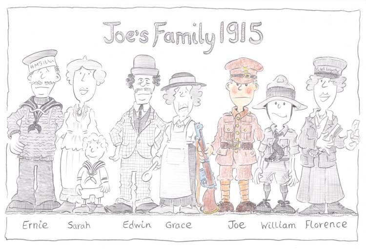 Joe's Family - 1915