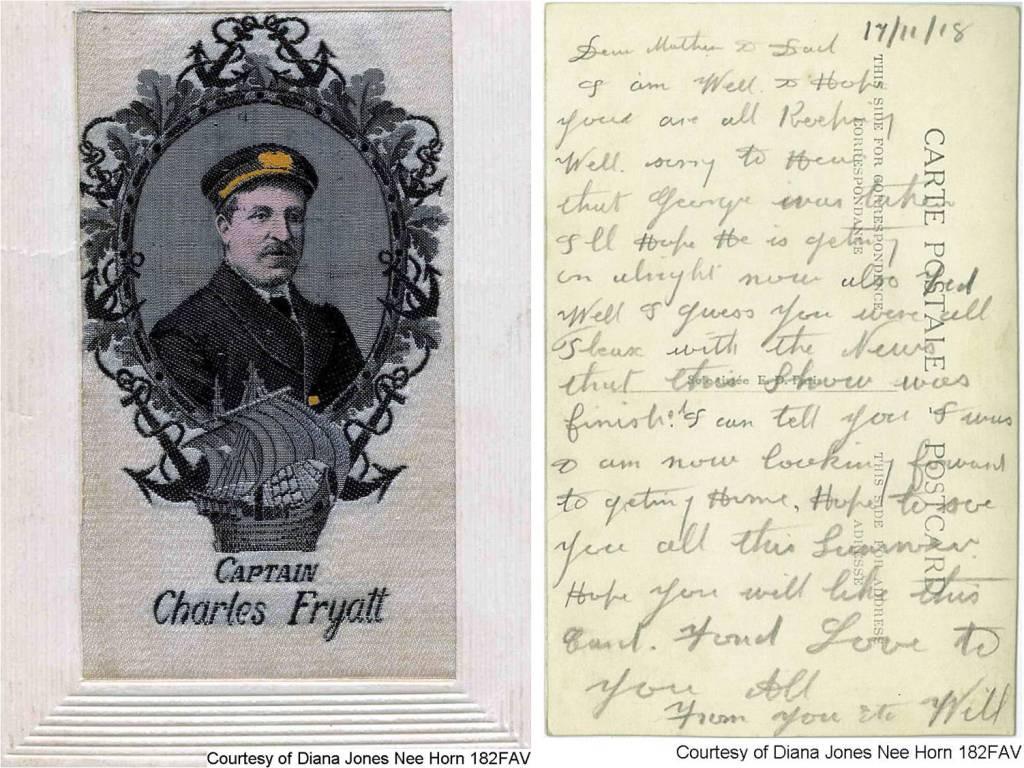 182FAV - Captain Charles Fryatt (Front & Back)