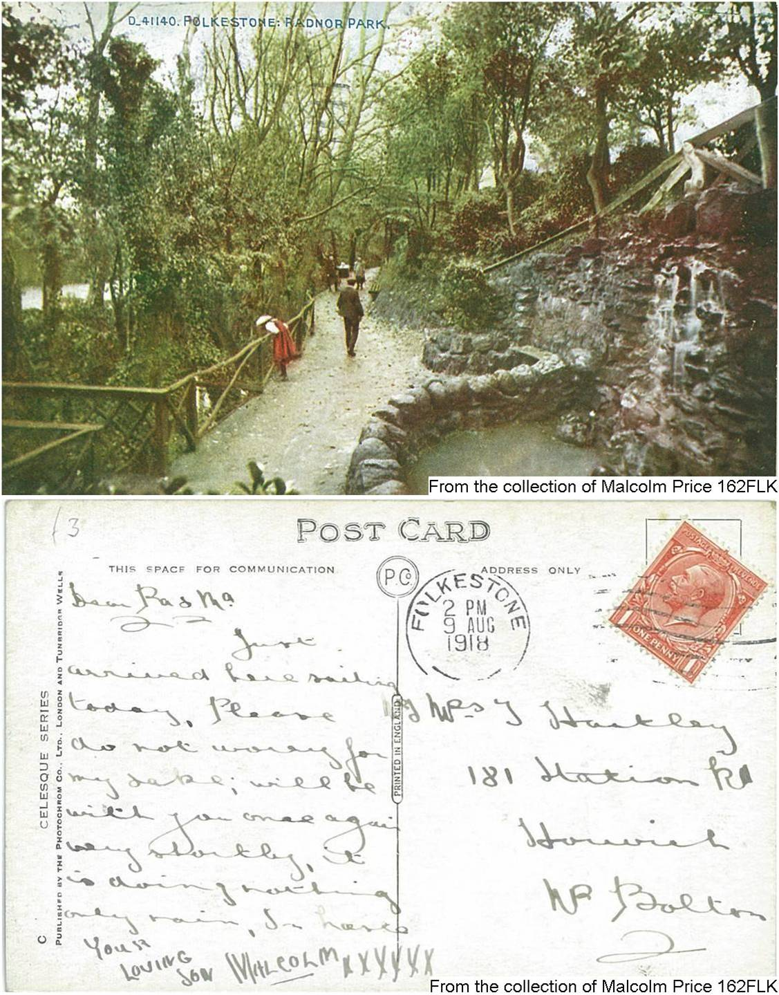 162FLK - Radnor Park (Postcard) (Front & Back)