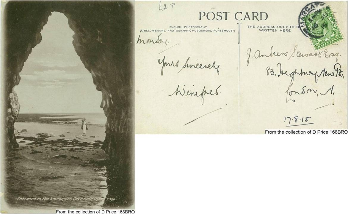 168BRO - Smugglers Cave (Potcard) (Front & Back)