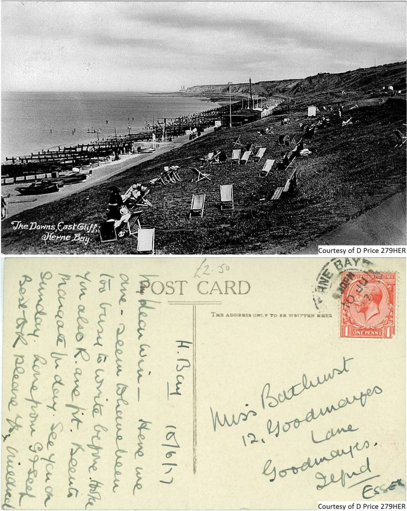 279HER - The Downs, East Cliff (Front & Back)
