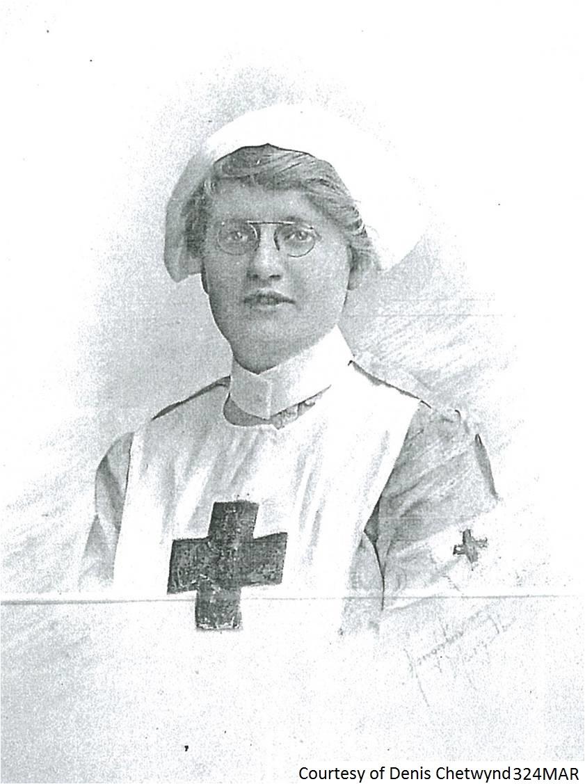 324MAR - Mrs Chetwynd A Red Cross Nurse