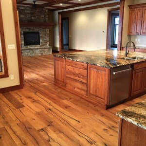 Professional chef style kitchen with grand island