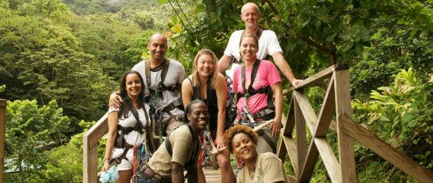 Babonneau Zip Line in St Lucia