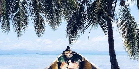 Boat in the Caribbean