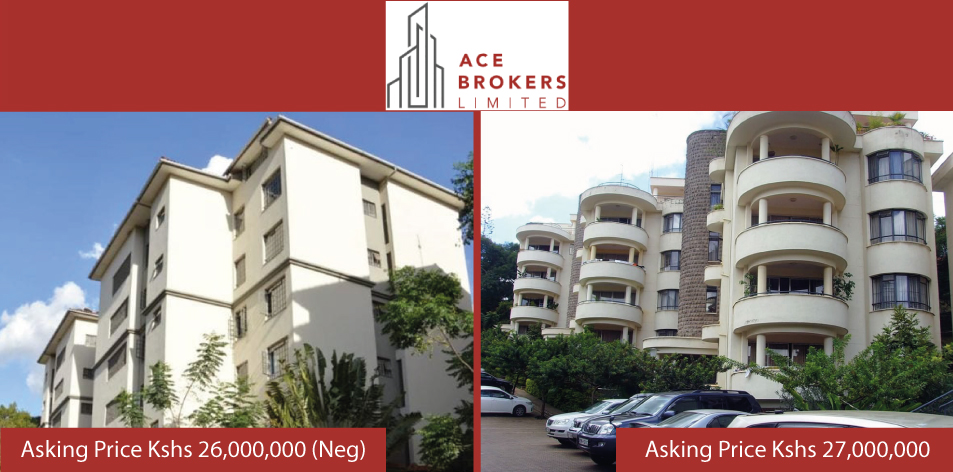 Ace Brokers Limited- 3 Bedroom Apartments In Lavington & Westlands For Sale!!