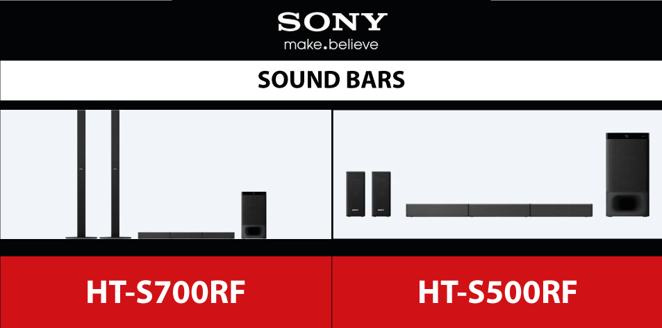 Sony 5.1ch Home Cinema Soundbar System with Bluetooth® technology-HT-S700RF | HT-S500RF