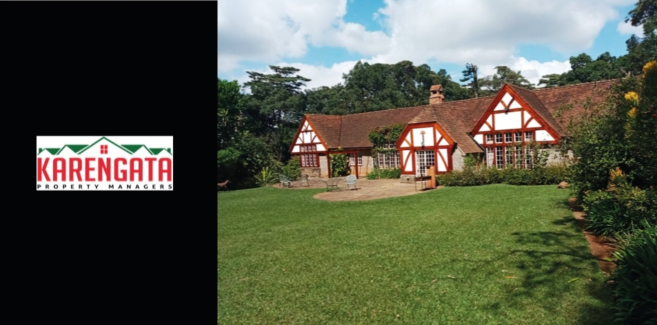 3 Bedroom Tudor-Style Home Located In The Heart Of Karen Set On 4.8 Acres