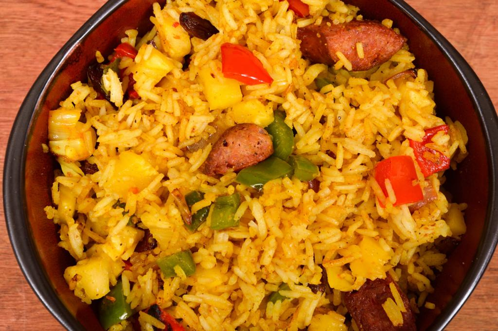 sausage & pineapple fried rice