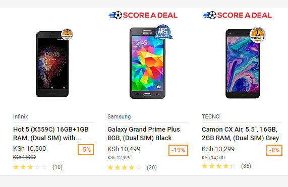Top 10 Mobile Phone deals on Jumia Kenya below 15K