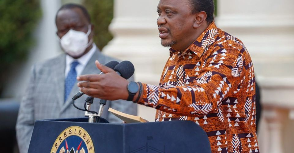 President Uhuru Kenyatta during his 11th address on covid-19
