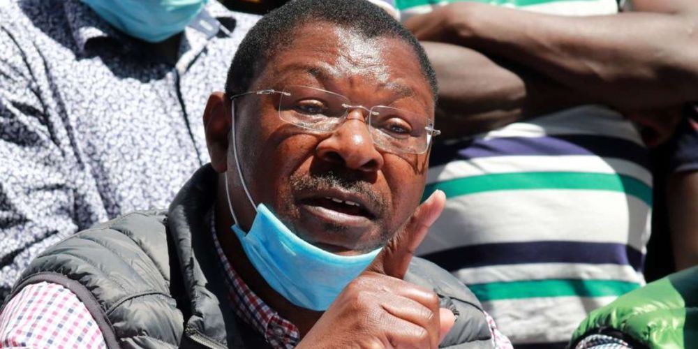 Moses Wetangula Addressing the Press on May 31.