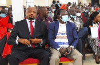 Moses Kuria makes first public appearance since recovering from covid-19. I