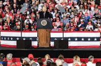 "During the campaign rally Monday night, Trump falsely claimed that ""nobody young"" has been affected by the virus in some states."