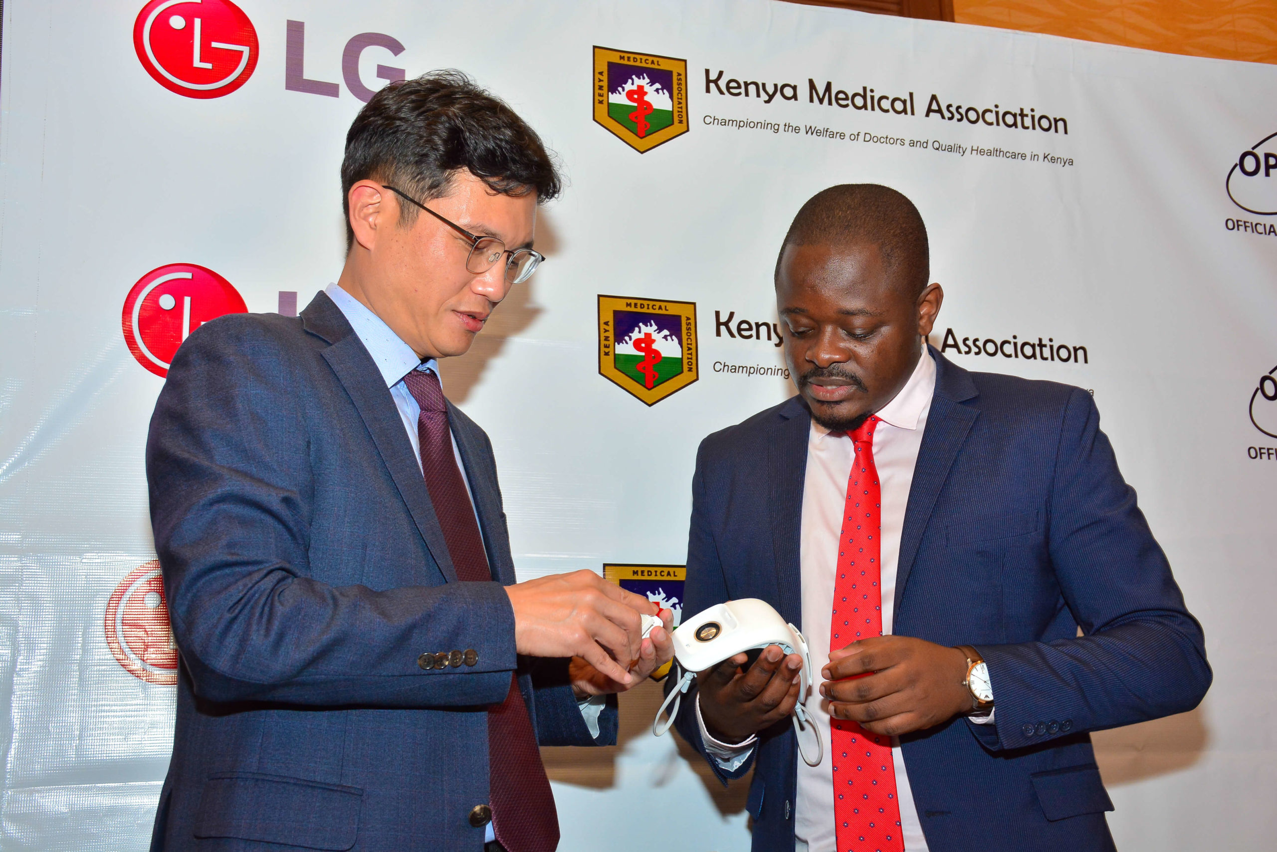 LG donates wearable air purifiers to frontline healthcare workers in Kenya