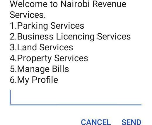 New Nairobi Parking Payment Short Code